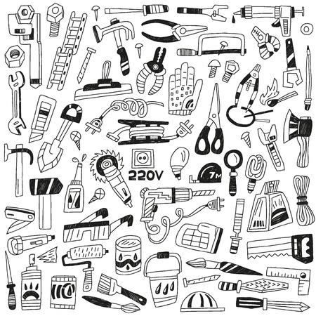 scrap metal: work tools - set icons