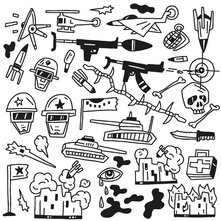 war set vector icons Vector