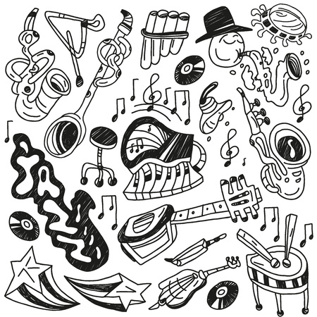 jazz - set icons Vector