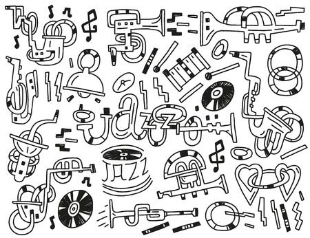 brass instrument: jazz - set icons