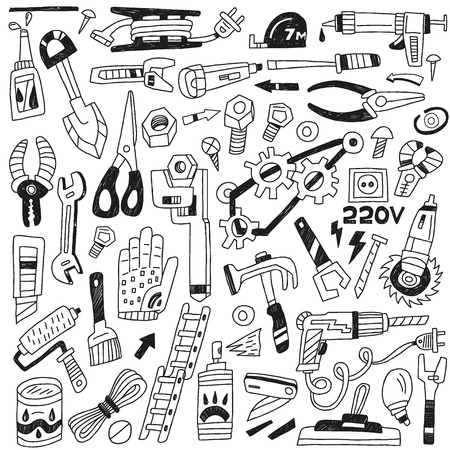 power tool: work tools - set icons