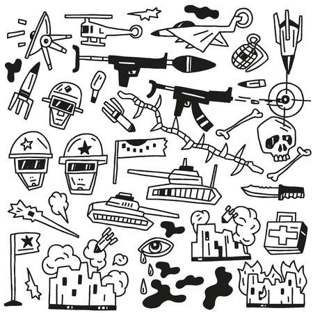 avion de chasse: guerre mis en icônes vectorielles
