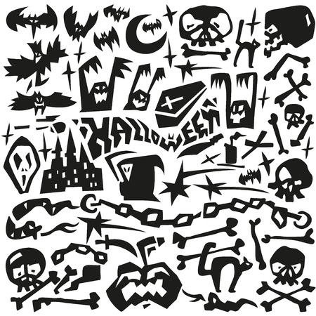 Halloween - set vector graphic Vector