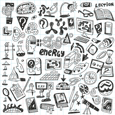 Science - set icons in sketch style Stock Vector - 22735283