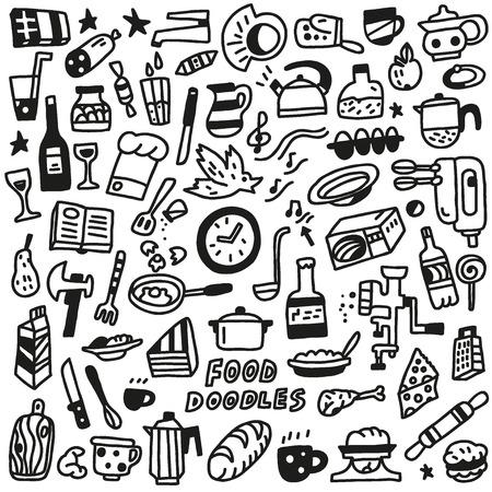 cooking book: Food - doodles Illustration