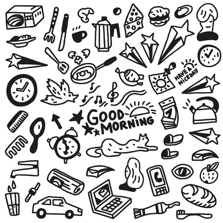 Good morning doodles - Illustration Vector