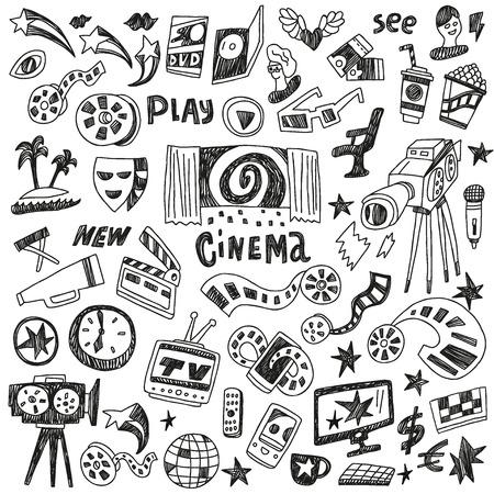 cinema doodles Illustration
