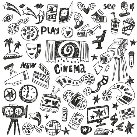 cinema doodles Illustration