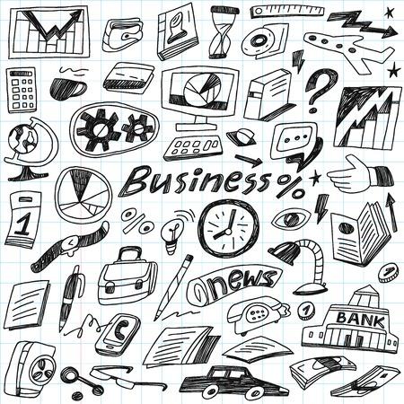 coffee bag: Business - doodles set