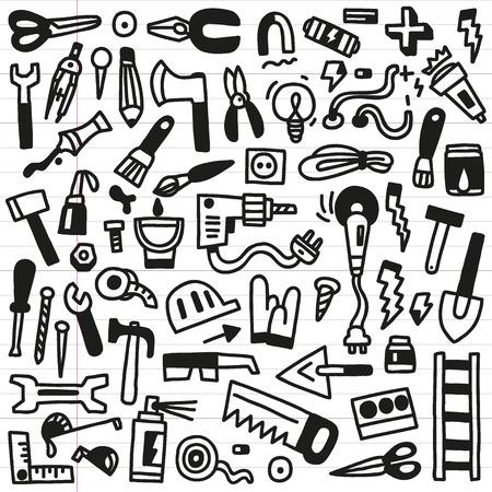 rasp: working tools - doodles Illustration