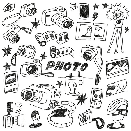 photo - doodles set Vector