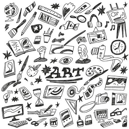 sketch book: School education - doodles
