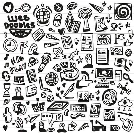 Web - doodles set Vector