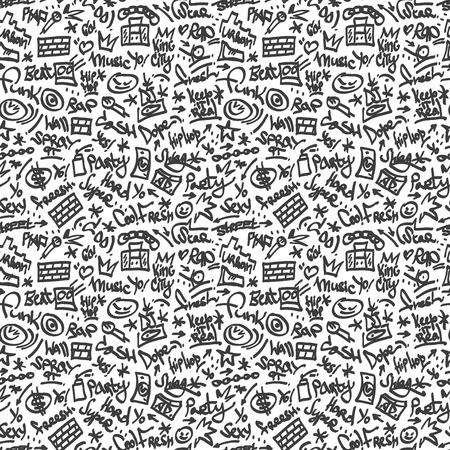 Rap, hip hop symboles - un arrière-plan transparent Banque d'images - 24561114