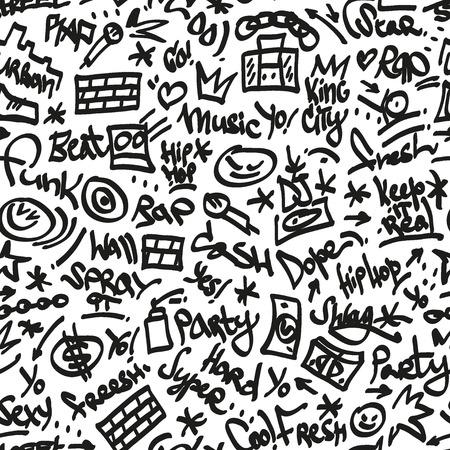 rap,hip hop symbols - seamless backgound