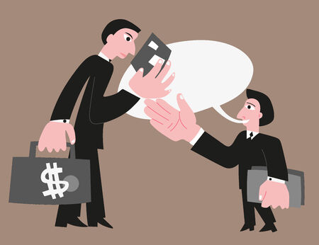 investor: Business partners , businessman and investor - vector illustration