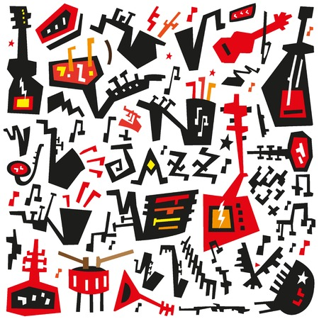 jazz instruments - vector icons in graphic style Vector