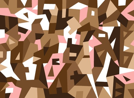 overcrowded: hipsters - abstract vector background with geometric shapes