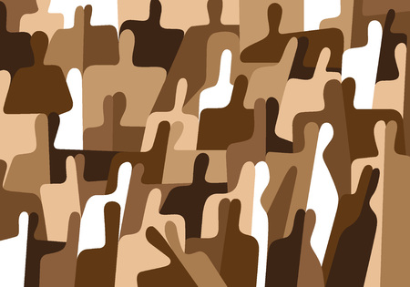 overcrowded: abstract people - vector background with geometric shapes Illustration