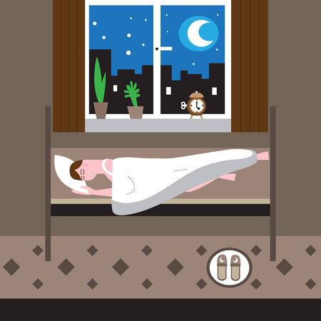 Sleeping man illustration Vector