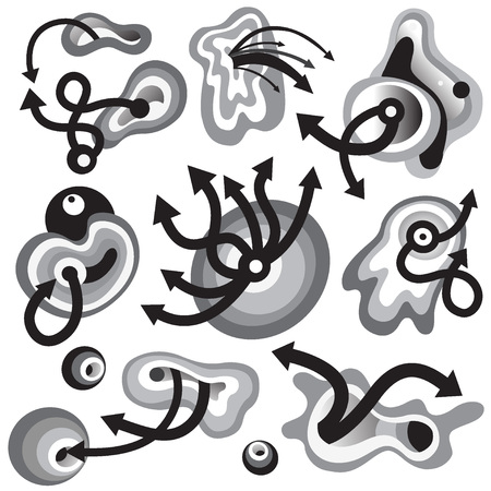 time abstract graphic symbols