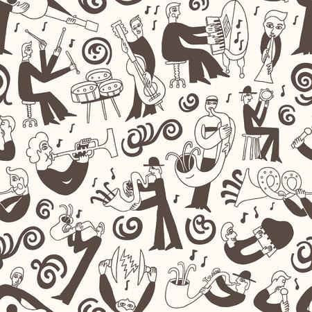 pianist: jazz musicians Illustration