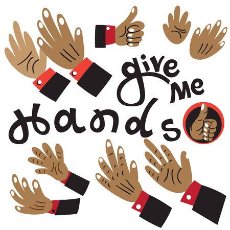 Hands set Illustration