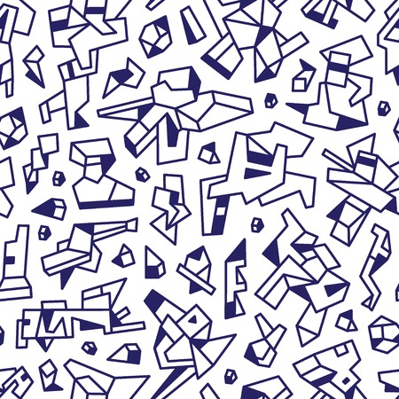 technology  - abstract seamless backgroundwith icons in graphic style Vector