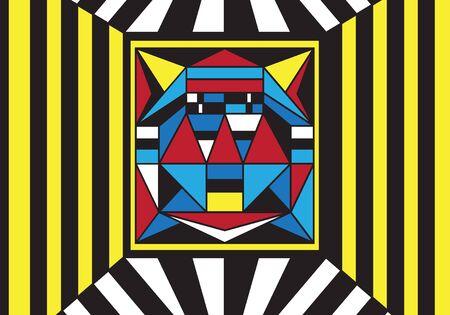 robot face: Robot face, computer virus - vector illustration Illustration