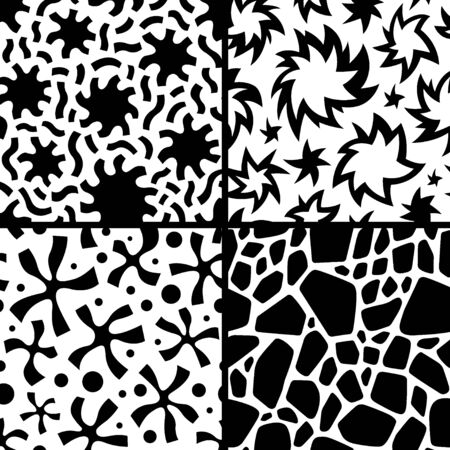 patterns vector: set seamless abstract vector patterns with graphic elements
