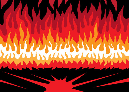 fire flame - abstract vector background, design element
