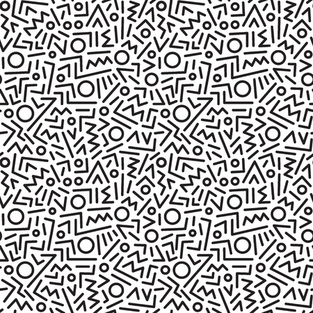 abstract seamless patterns with lines , design elements Vectores