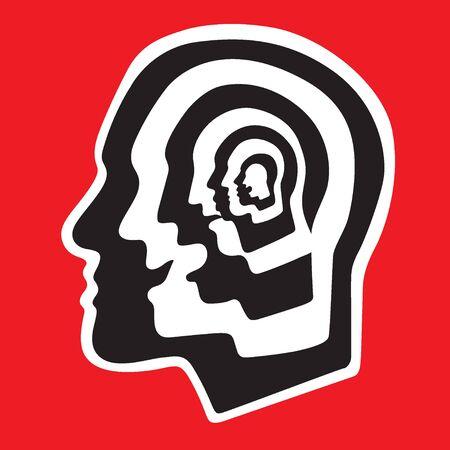 aging brain: Human brain - abstract graphic illustration , design element