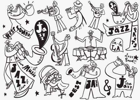 rt: Jazz Musicians  set icons in graphic style , design elements