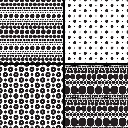 pea: Set seamless patterns with balls , design elements