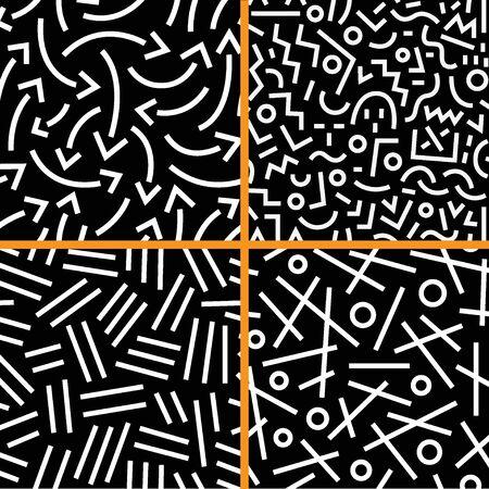 figuras abstractas: establecer patrones sin fisuras con líneas, elementos de diseño