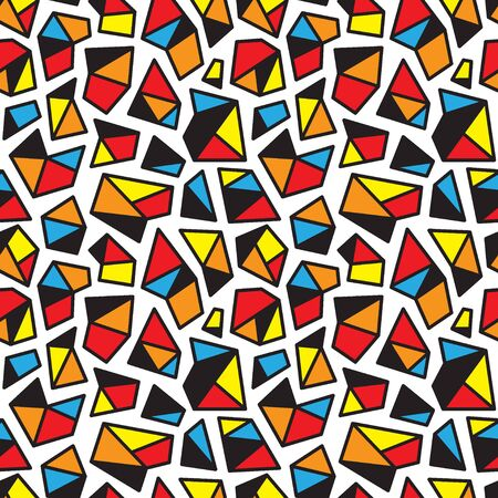 pattern of geometric shapes: seamless pattern with geometric shapes , design element