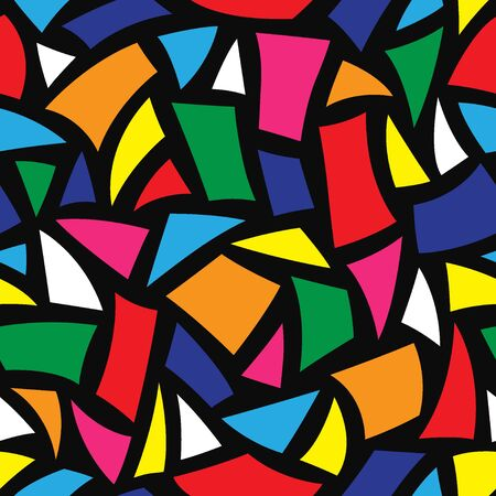 art contemporary: abstract seamless vector background with geometric shapes