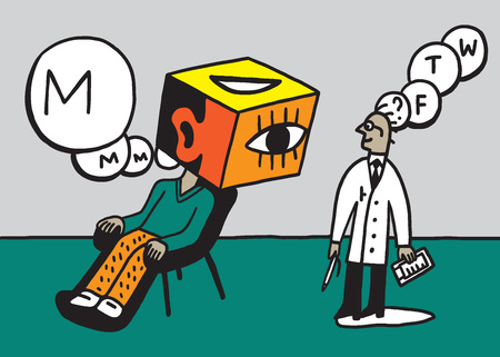 doctors and patient: doctor psychiatrist and patient vector illustration , design element