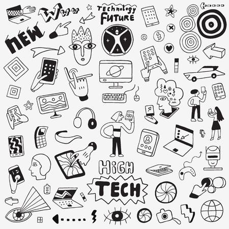 web technology devices icon collection Ilustracje wektorowe