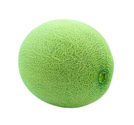 fresh round melon fruit isolated on white background with clipping path 版權商用圖片