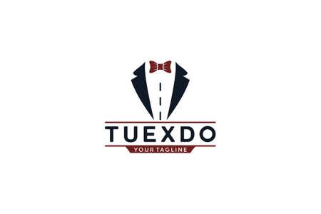 Tuxedo logo template vector in white background 向量圖像