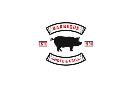 barbeque logo in white background