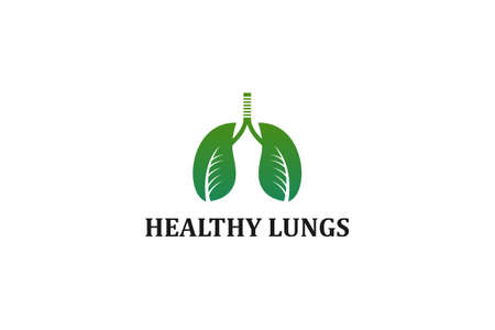 healthy lungs logo with leaves forming lungs that reflect health