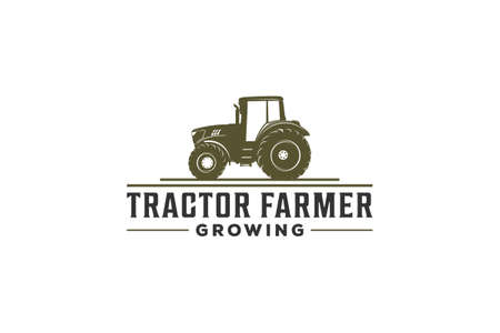 tractor logo for farmer with tractor illustration