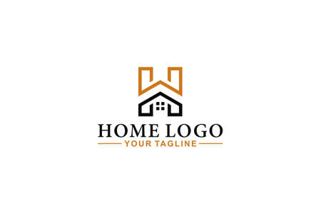the house logo with the letter H which becomes the H-shaped house logo which is unique and easy to remember and recognize