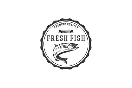 fresh fish logo for a place that sells fresh fish