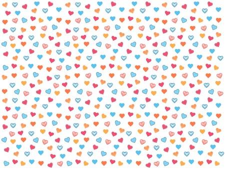 Farbige Herzen auf weißem Hintergrund Standard-Bild - 36096136