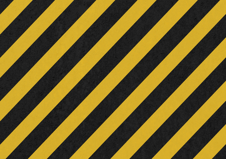 hazard stripes: Abstract geometric lines with diagonal black and yellow stripes. Illustration Stock Photo