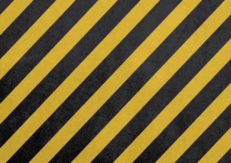hazard stripes: black and yellow background